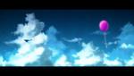 Обои Кит и воздушный шарик парят в небе, by urara256