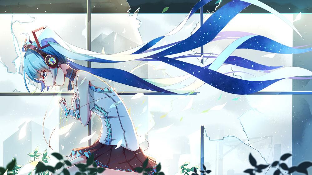 Обои для рабочего стола Vocaloid / Вокалоид Hatsune Miku / Хатсуне Мику / Мику Хацунэ