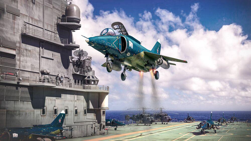 Обои для рабочего стола Реактивный истребитель Як-38 / Яковлев