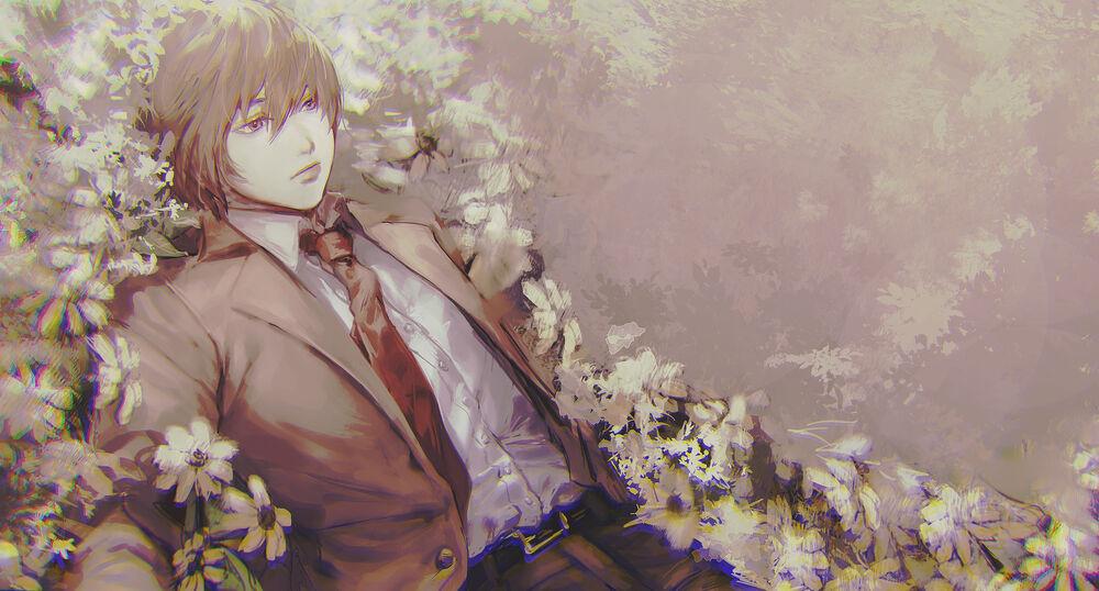 Обои для рабочего стола Лайт Ягами / Light Yagami из аниме Тетрадь смерти / Death Note