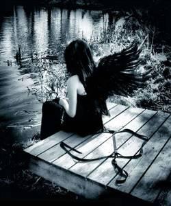 Фото зациклился.. грустный ангел