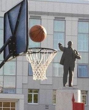 Фото Ленин - баскетболист. Чудесный ракурс