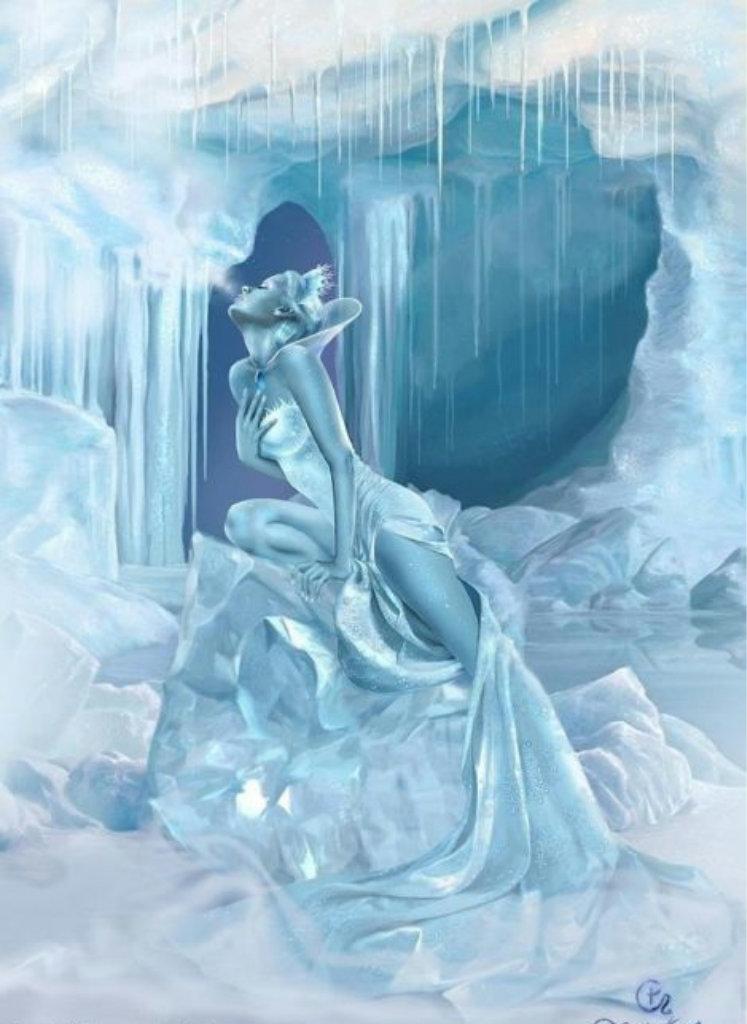 Открытки, гифка снежная королева