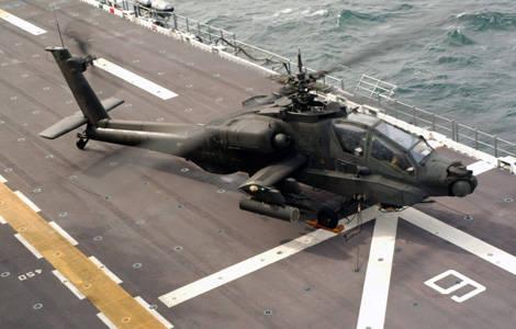 Фото Апач взлетает с палубы