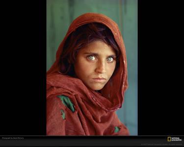 Фото Знаменитое фото Стива МакКюри «Afgan Girl» для National Geographic
