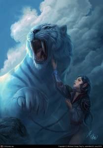 Фото Девушка с саблезубым тигром (© Anatol), добавлено: 18.07.2010 17:48