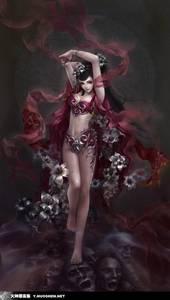 Фото Дьявол в образе милой девушки шагает по душам грешников