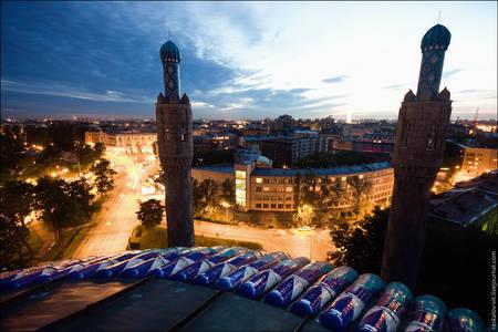 Фото Вид с крыши мечети в Питере (© Maks), добавлено: 18.07.2010 21:09