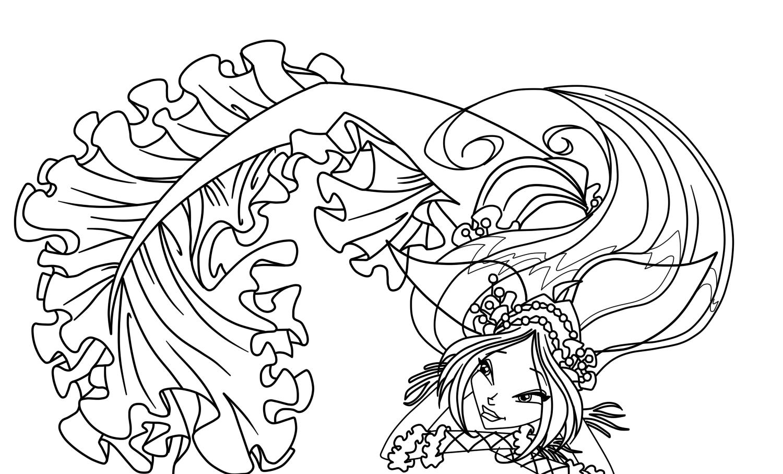 Раскраска винкс - 8