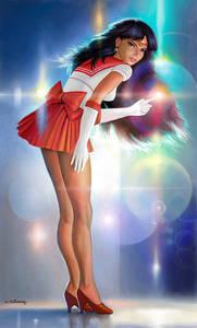 Фото Сейлор Марс, фанарт по аниме 'Сейлор Мун' (© Юки-тян), добавлено: 01.09.2010 17:08