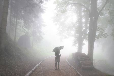 Фото Девушка под зонтом (© Юки-тян), добавлено: 15.09.2010 20:47