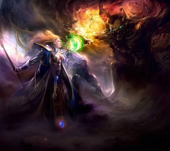 Фото Единоборство волшебницы со злобным демоном