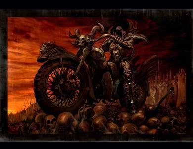 Фото Смерть на мотоцикле (© Штушка), добавлено: 25.09.2010 22:43
