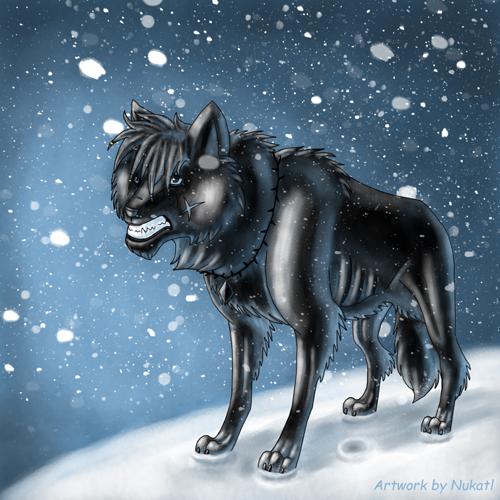 Фото волчара-оборотень (Artwork by Nukatl)