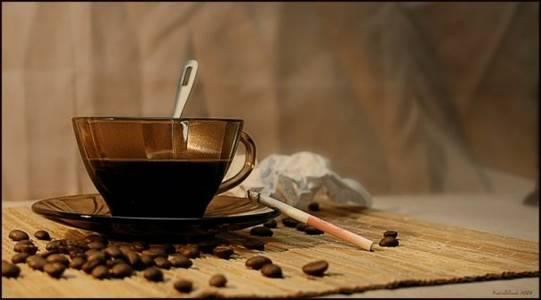 Фото кофе и сигареты (© Louise Leydner), добавлено: 25.10.2010 00:39