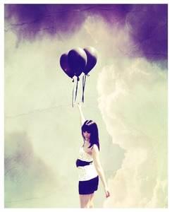 Фото девушка с шариками