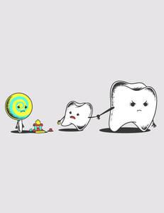 Фото зубы и конфета (© Louise Leydner), добавлено: 28.10.2010 22:06