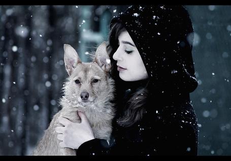Фото девушка и собака (© Louise Leydner), добавлено: 31.10.2010 02:19