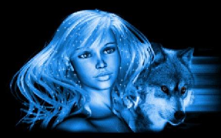 Фото Девушка с волком (© Anatol), добавлено: 24.11.2010 00:08