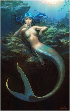 Фото Синеволосая русалка (© Юки-тян), добавлено: 27.11.2010 14:31