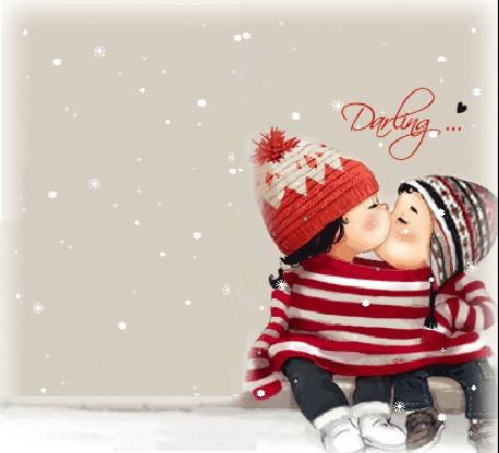 Фото Darling... Детишки целуются..идёт снег...