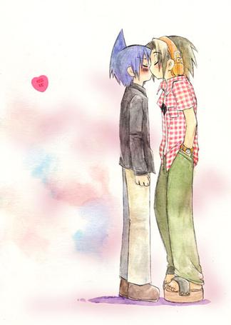 Фото kiss me (аниме король шаман. Лен и Йо (© Anatol), добавлено: 29.12.2010 15:40