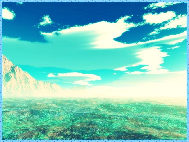 Фото сине-зелёный день