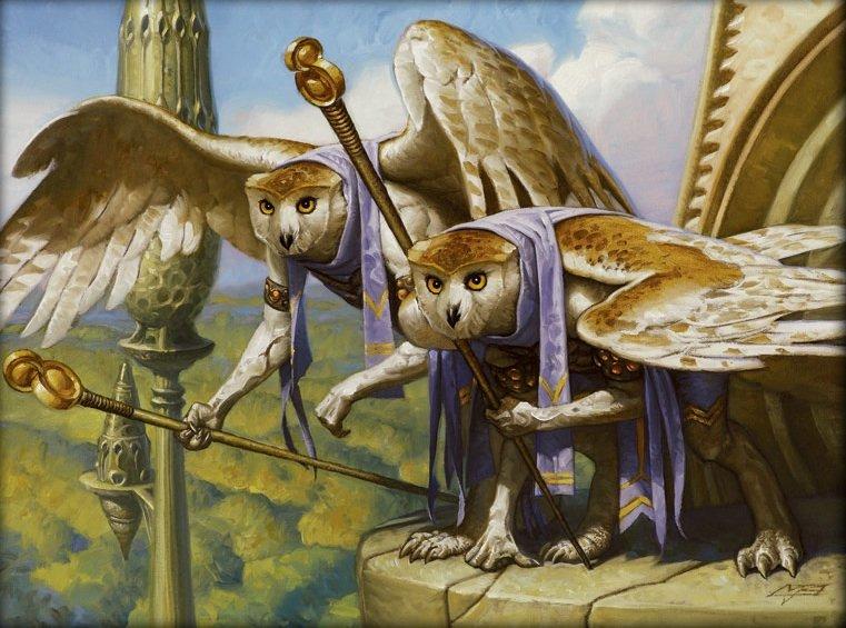 Фото Грифоны с совиными головами