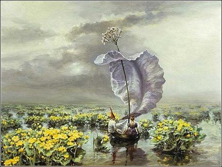 Фото По болоту в лодке из капустных листьев... (© Radieschen), добавлено: 03.01.2011 12:07