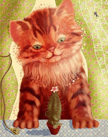 Фото Котёнок с кактусом (© Radieschen), добавлено: 07.01.2011 12:11