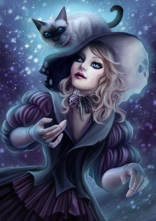 Фото Кукла-ведьма с котом (© Anatol), добавлено: 08.01.2011 19:30