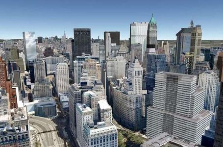 Фото небоскрёбы Нью-Йорка (© kinder), добавлено: 09.01.2011 00:53