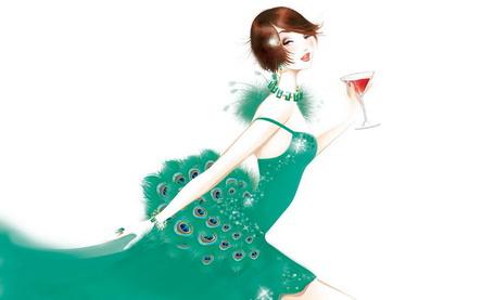 Фото Девушка в платье с перьями павлина (© Штушка), добавлено: 14.01.2011 13:34