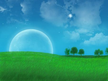 Фото на зелёном лугу (© Флориссия), добавлено: 15.01.2011 17:09
