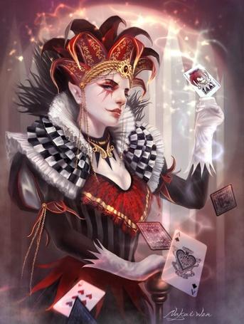 Фото Джокер с картами (© Штушка), добавлено: 31.01.2011 19:52
