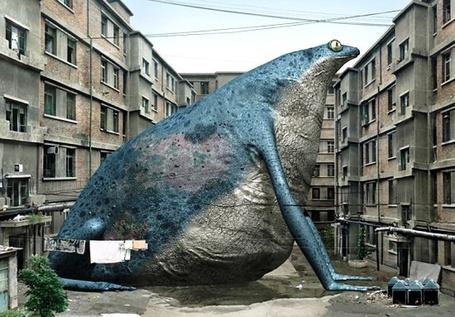 Фото Огромная жаба во дворе домов (© Volkodavsha), добавлено: 11.02.2011 12:45