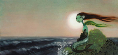 Фото Русалка на берегу моря