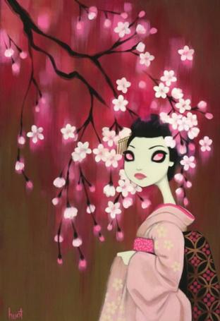 Фото Девушка в кимоно под цветущей сакурой (© Anatol), добавлено: 14.02.2011 16:30