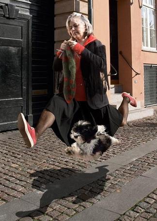 Фото Бабулька вприпрыжку бежит рядом со своей собачонкой, и даже успевает на ходу вязать (© Radieschen), добавлено: 16.02.2011 06:07
