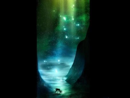 Фото олень у волшебного озера