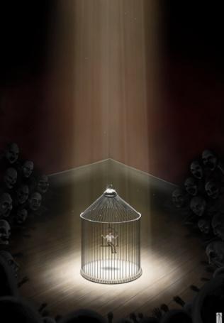 Фото душа запертая в клетке (© Флориссия), добавлено: 19.02.2011 19:48