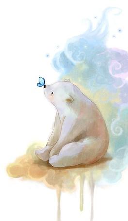 Фото Полярный медвежонок с бабочкой на носу, художник darkmello (© Флориссия), добавлено: 22.02.2011 13:19