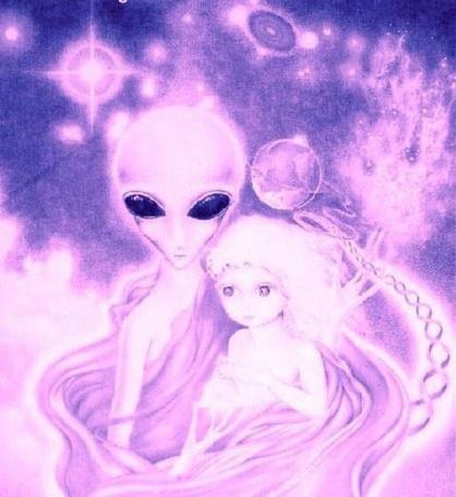 Фото пришелец и девочка (© Флориссия), добавлено: 22.02.2011 13:31