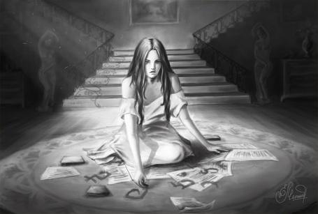 Фото Девушка очертила магический круг, везде призраки
