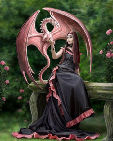 Фото Девушка сидит на лавочке и держит розового дракона (© Штушка), добавлено: 04.02.2011 22:00
