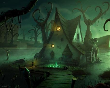 Фото Зловещая избушка на болоте (© Radieschen), добавлено: 05.02.2011 06:12