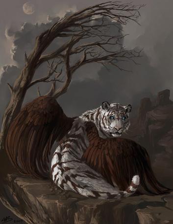 Фото Крылатый тигр на скале (© ColniwKo), добавлено: 09.02.2011 01:10