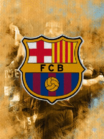 Фото Эмблема ф/к 'barcelona messi'