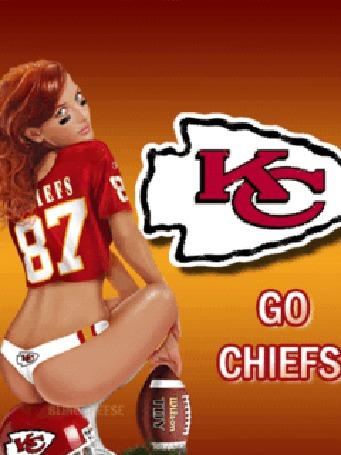 Фото Девушка из группы поддержки команды 'chiefs'