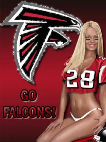 Фото Девушка из группы поддержки команды 'falcons'